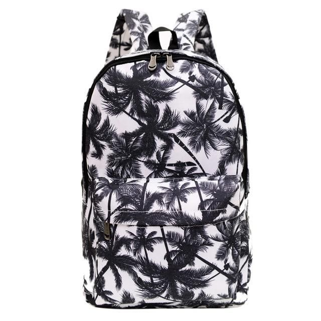 Photo of Coconut Tree printing laptop backpack
