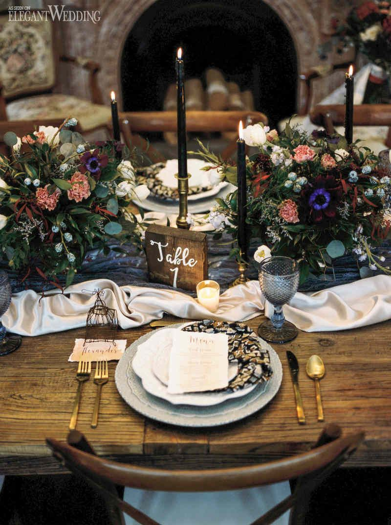 Moody Fall Wedding Inspiration Wedding Table Fall