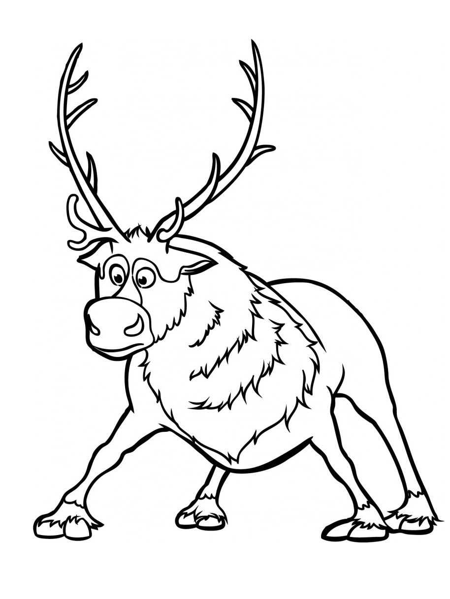 Sven Frozen Coloring Pages Printable Sven Best Free