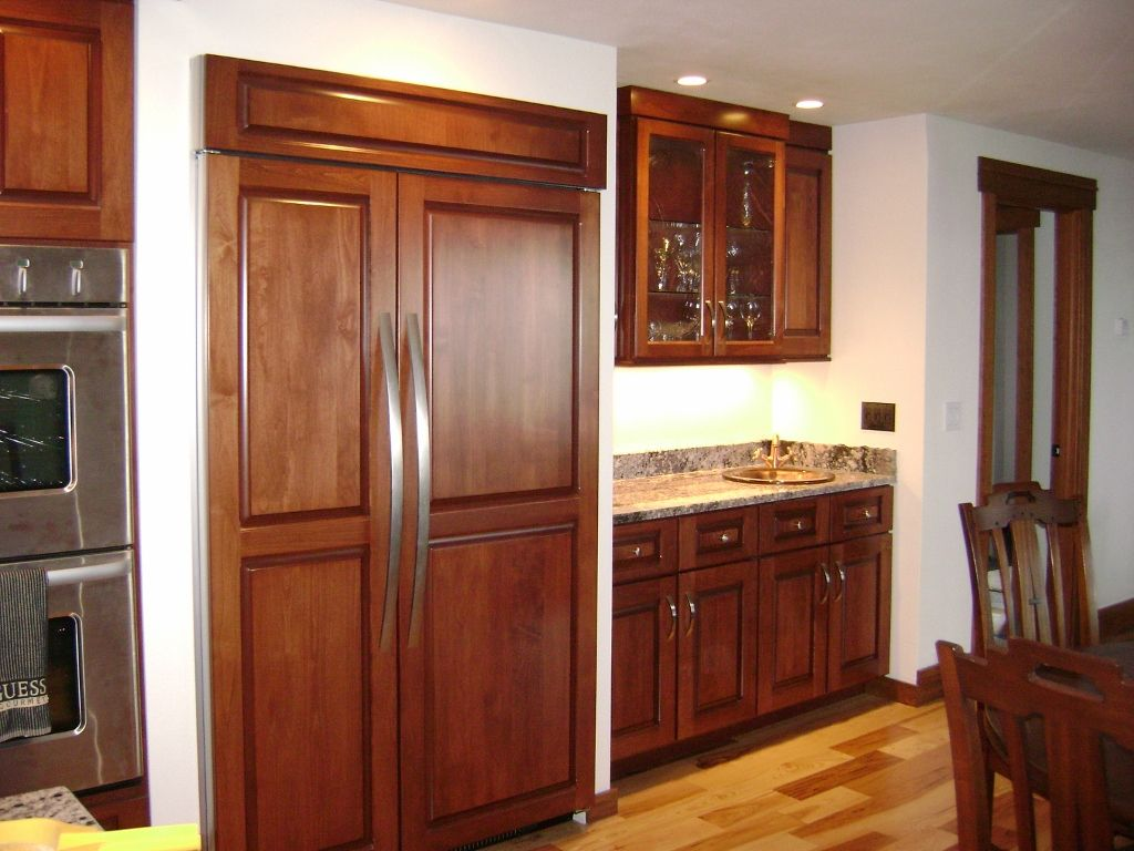 I Love Built In Refrigerators Home Kitchens