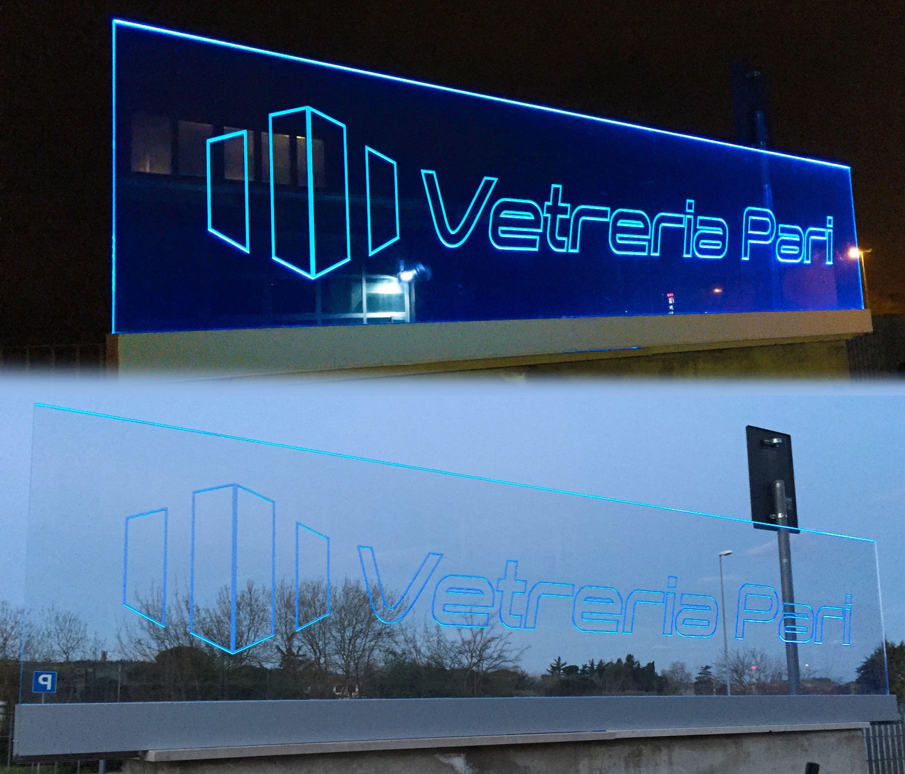Personalizzazione Di Parapetto In Vetro Con Illuminazione A Led