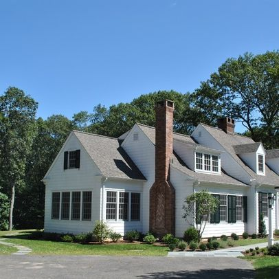 White Cape Cod With Dormers Design Ideas Pictures Remodel And Decor Cape Cod House Exterior House Exterior Traditional Exterior