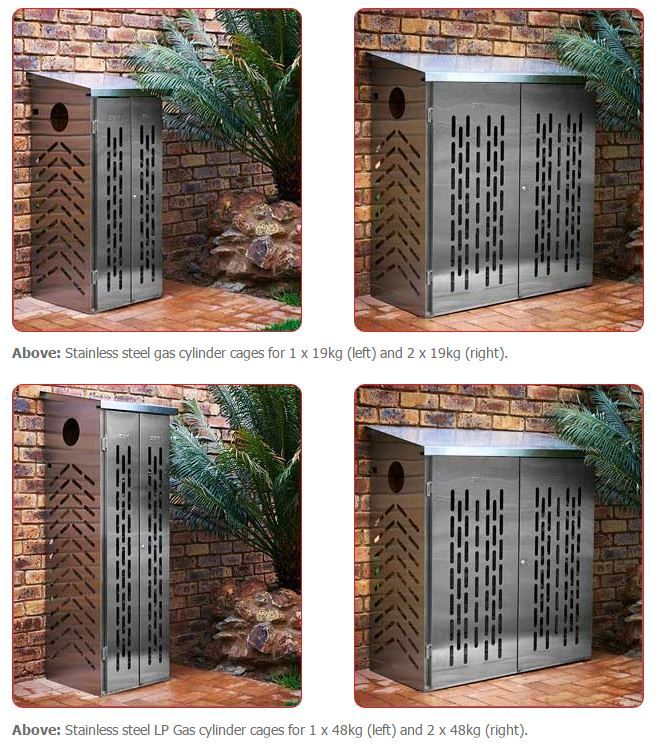 Outdoor Gas Cylinder Cages Stainlesssteel Outdoor