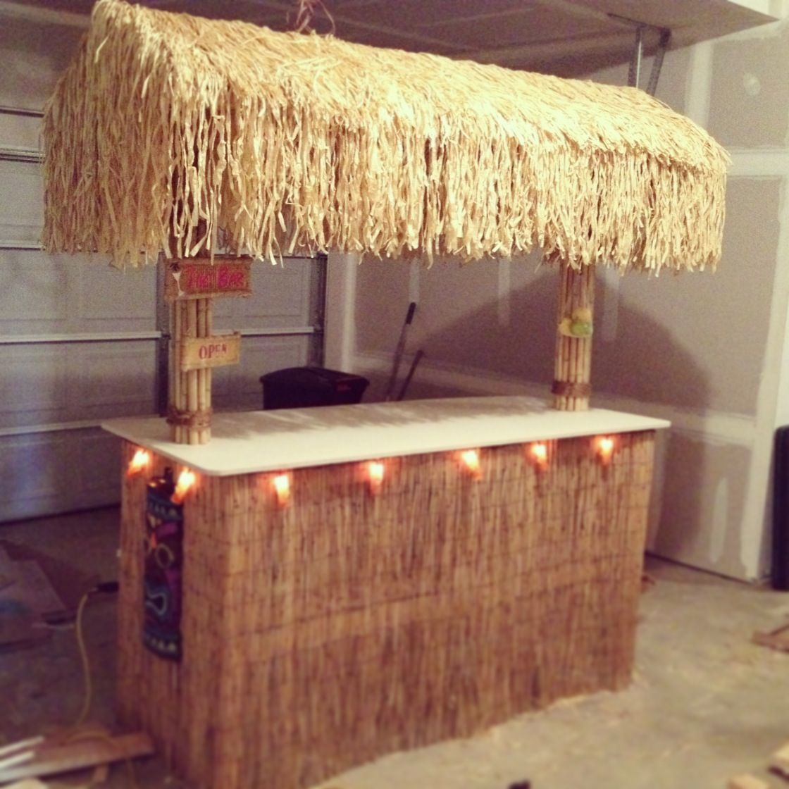 tiki bar diy facade ideas camp tiki beach