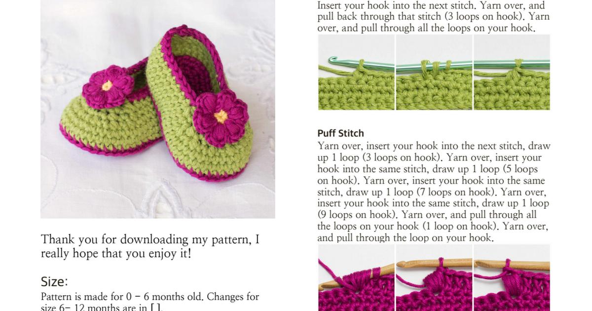 Fairy Blossom Baby Booties Crochet Pattern.pdf   Zapatitos ...