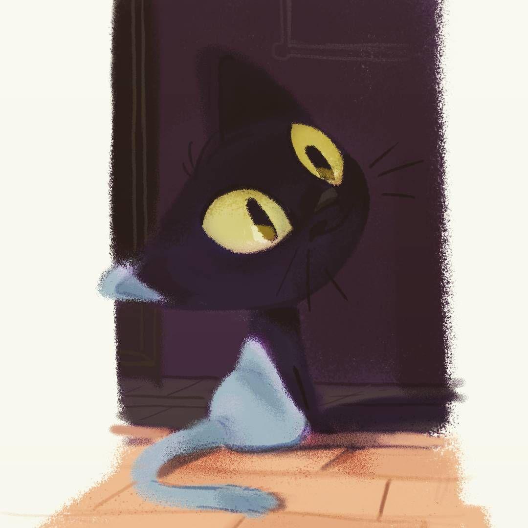 Meow!  #illustration #cats #cat #cute #animatedshort #digitalpainting #animal #animaldesign #animationwork #julienrossire #artconcept #artistoninstagram