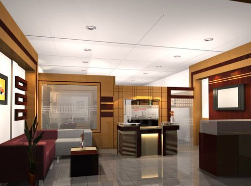 modern executive office interior design - mix of mostly neutral ...