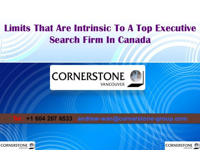 Limits That Are Intrinsic To A Top Executive Search Firm