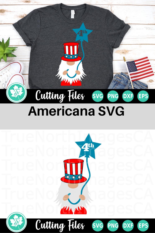 4th of July Gnome - An Americana SVG Cut File