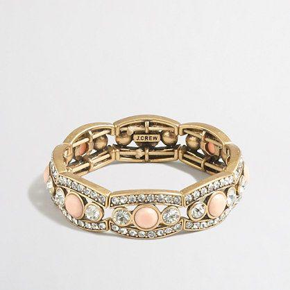 J Crew Factory Crystal Peach Bracelet