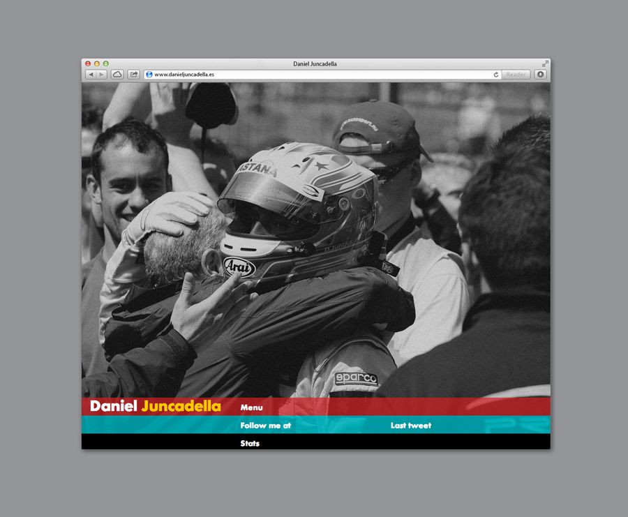 Website for Mercedes F1 test driver Daniel Juncadella designed by Mucho.  #Website #Branding #Design