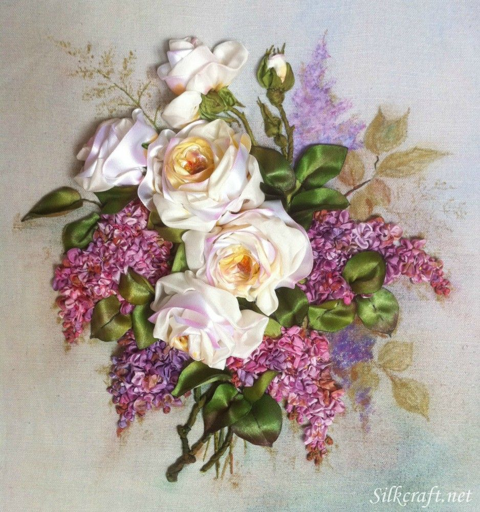 Silk ribbon embroidery flores cintas pinterest silk ribbon