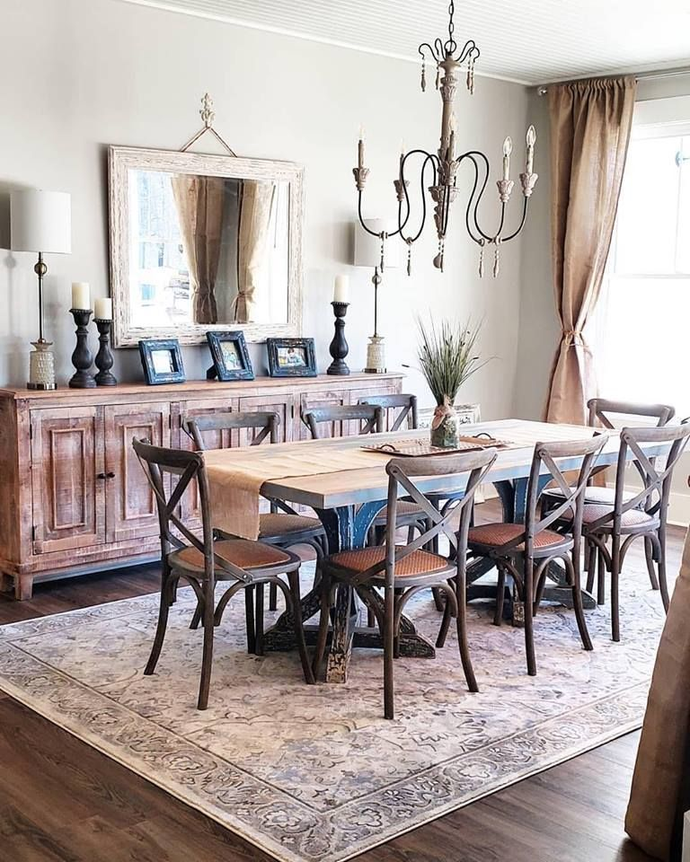 Primos Area Rug | Farmhouse dining, Farmhouse dining rooms ...