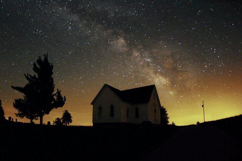 Summer Milky Way over Mt. Zion Church  Whitton Switch, Missouri