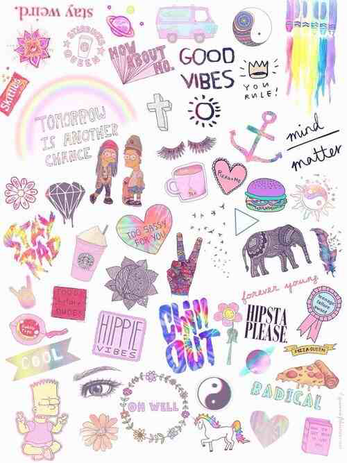 Collage Overlay Iphone Wallpaper Tumblr Wallpaper Aesthetic Stickers