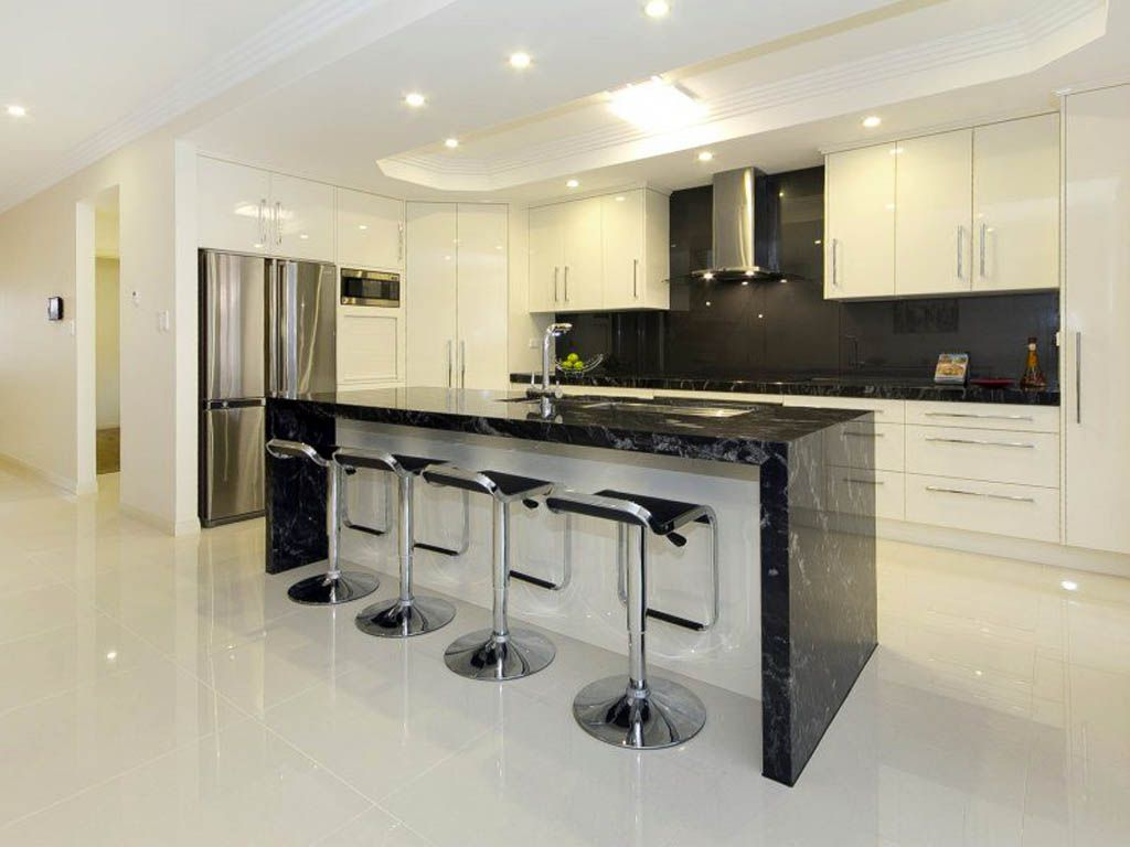 Dining Room Kitchen Elegant Black Table With Cool Stainless Swivel Chairs And Modern Refrigerator Luxury