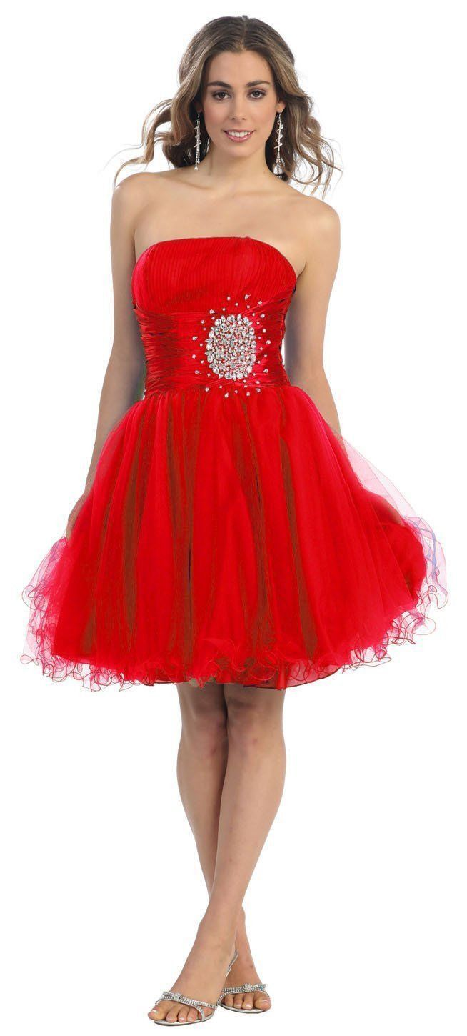 Short cocktail strapless prom formal dress products