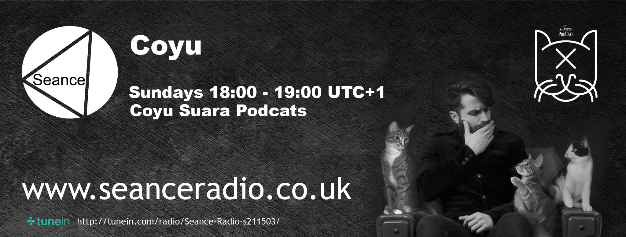 Electronica Medium Font Check Out Coyu S Suara Podcats Every Sunday On Seance Radio 18 00