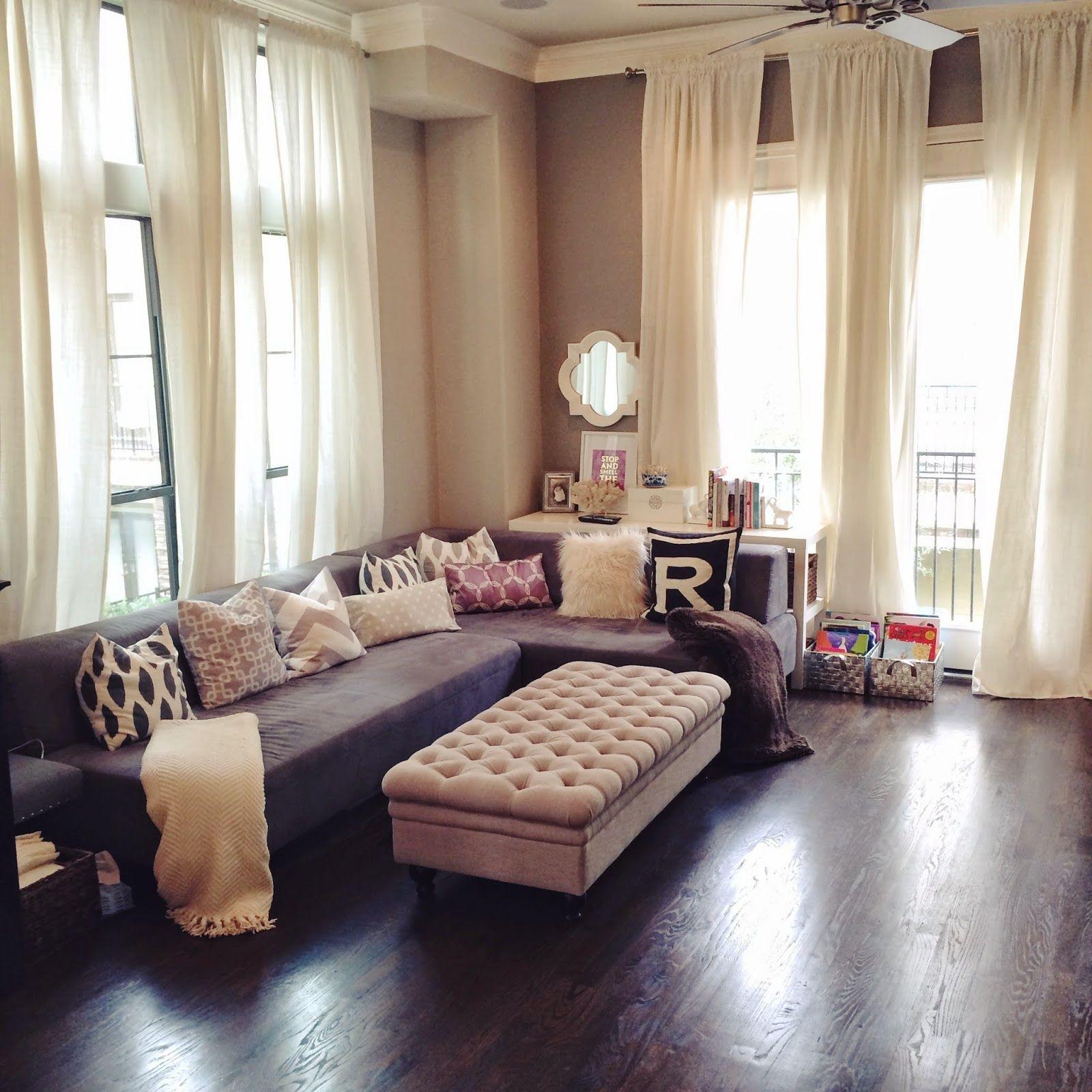 Cream Living Room Curtains Best Paint Colors Behr Ikea S Ritva In Our Open Concept Veronika Via Bloglovin Com