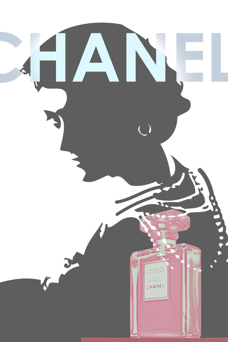 Coco Chanel Advertisement 2 By Kokorostudio On Deviantart Chanel Poster Chanel Ad Chanel Illustration