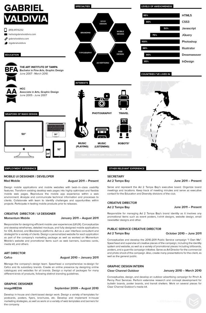 70 Well-Designed Resume Examples For Your Inspiration Resume - well designed resumes
