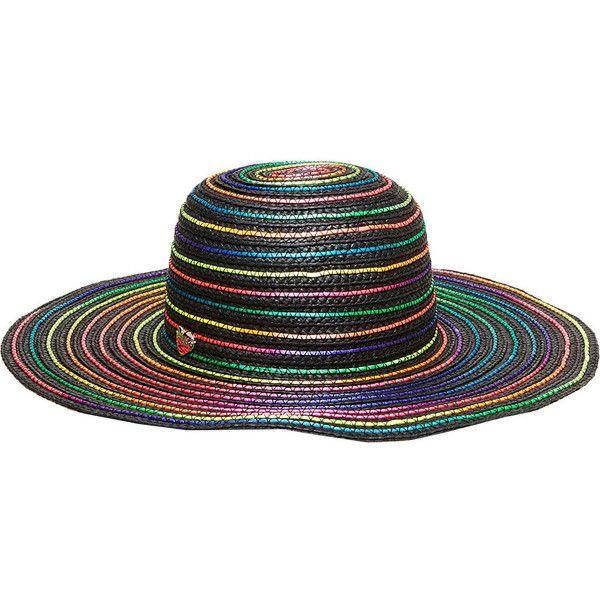 Betsey Johnson Rainbow Swirl Floppy Hat ( 28) ❤ liked on Polyvore featuring  accessories dde4405fabc