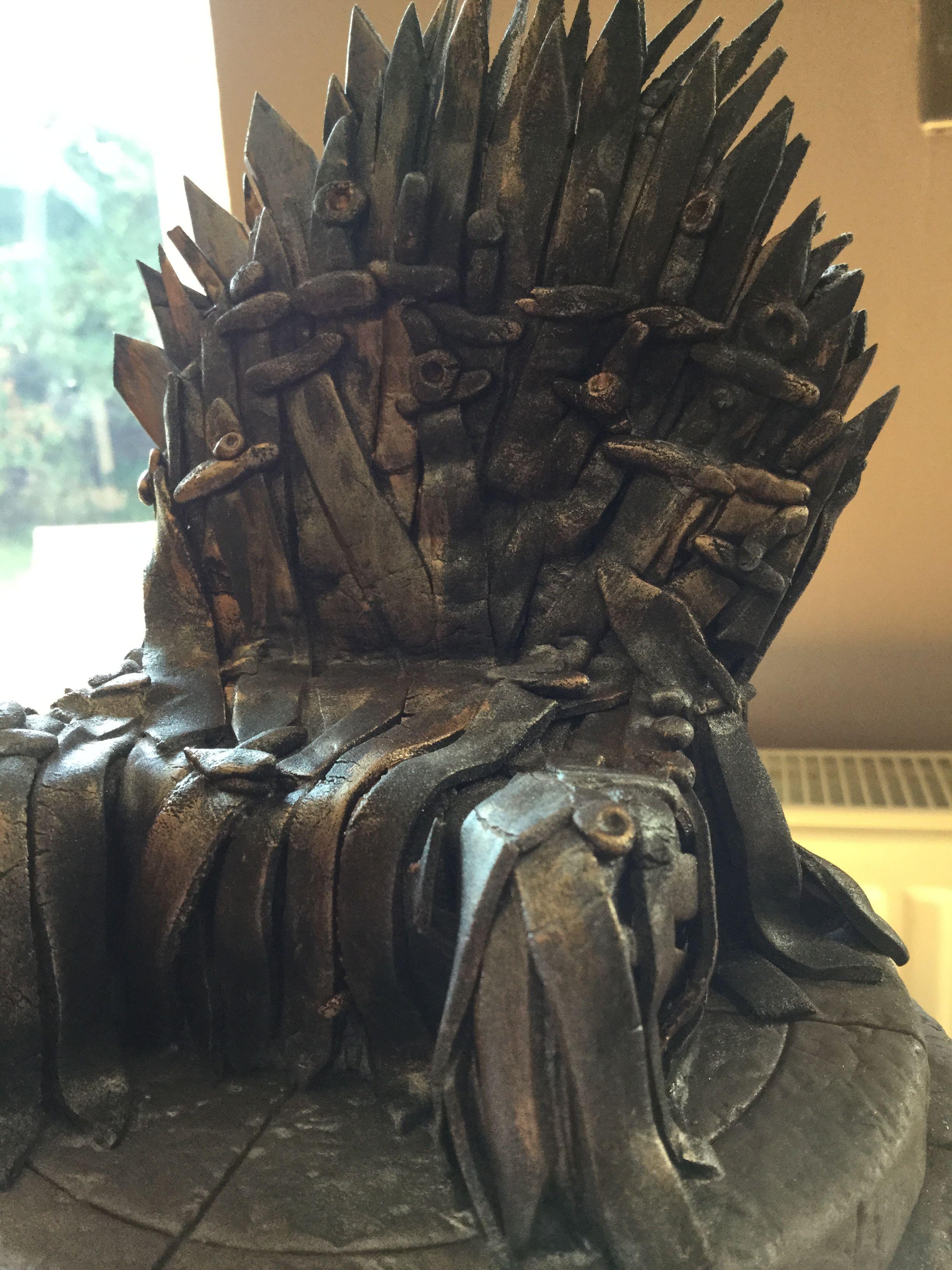 Iron Throne Cake Topper | Iron throne, How to make cake ...