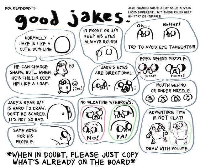 Good Jake drawing tips from Adventure Time!