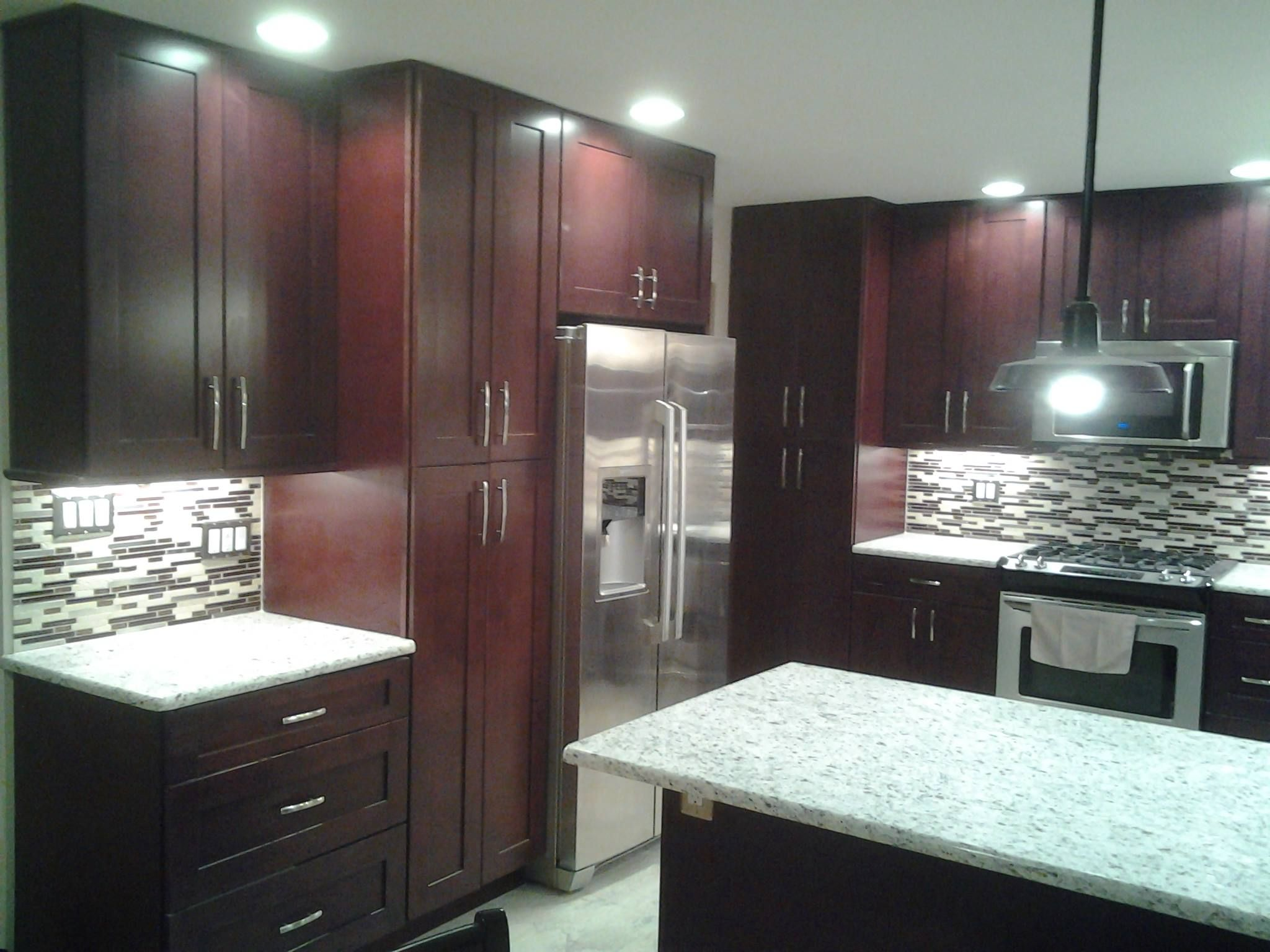 Mocha Shaker Finished Project Jan 2014 Thank You Arthur J Daponte For The Finish Assembled Kitchen Cabinets Online Kitchen Cabinets Shaker Kitchen Cabinets