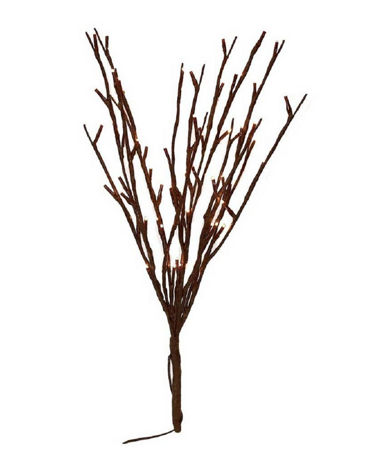 Enjoy the beauty of these illuminated branches all year long. This set features 60 warm-white Led bulbs on a moldable stem, delicately coated in a dark brown wrap mimicking a natural branch. Perfect for parties, weddings or as a unique accent for any decor.