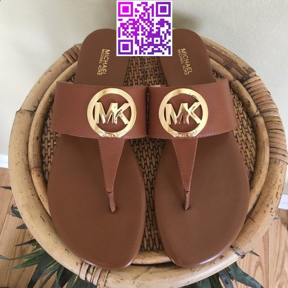 MICHAEL KORS SANDALS Brand new without tags. Super cute leather slides for the summer in the color luggage. All leather upper, gold tone signature logo, manmade soles.TRADESLOWBALL MICHAEL Michael Kors Shoes Sandals