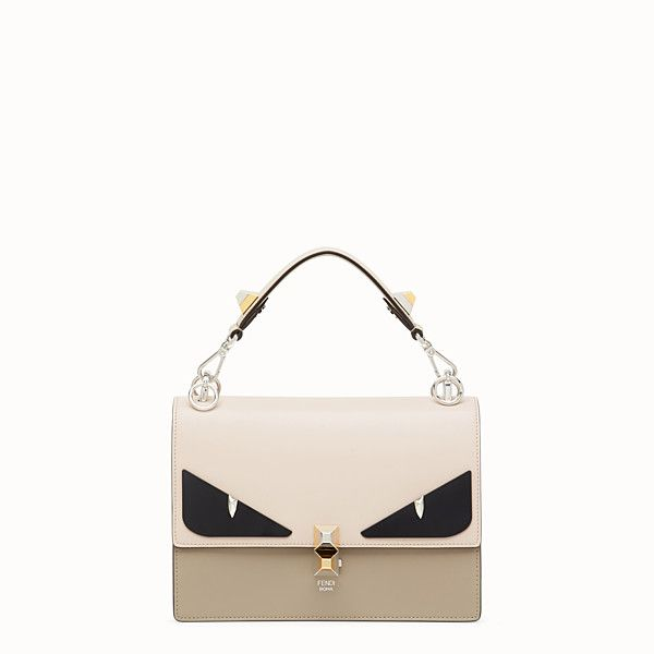 1a14241d77ea FENDI KAN I - Beige leather bag - view 1 small thumbnail