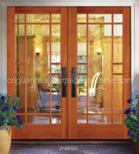 Puertas interiores de madera con vidrio inspiraci n de for Vidrios decorados para puertas interiores