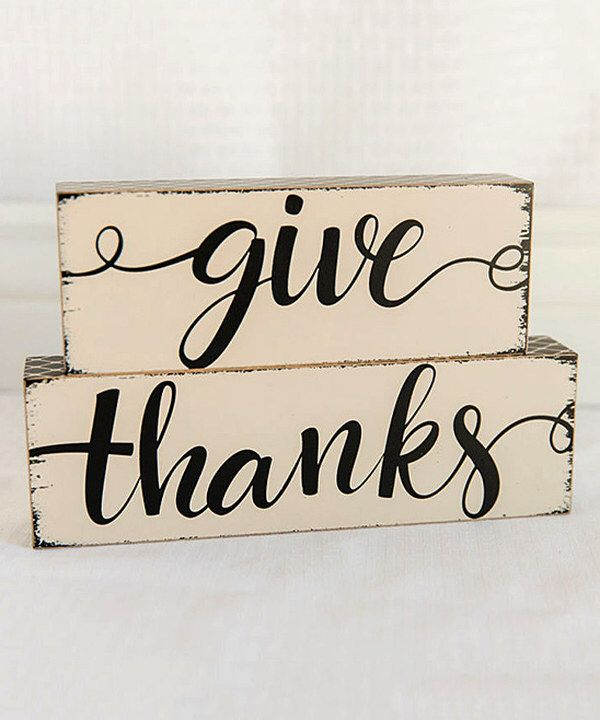 Look at this Wood 'Give Thanks' Block Sign on #zulily today!