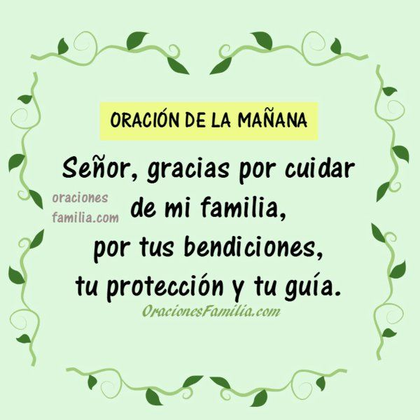 imagen oracion gracias por familia Dios