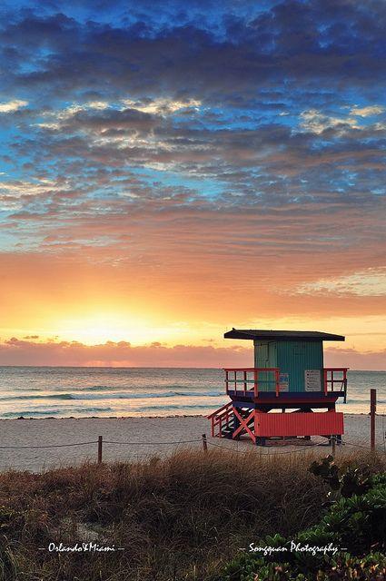 South Beach Sunrise Miami Florida