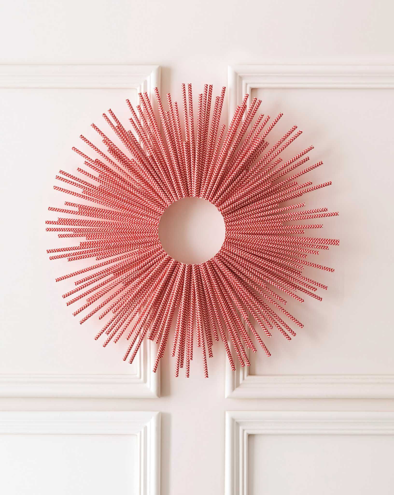 A Straw Wreath By Stephanie Hung Dozens Of Colored Straws