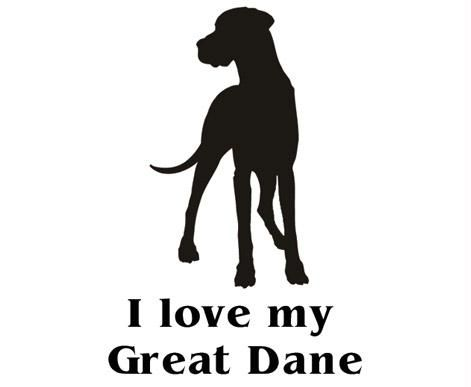Great Dane Car Decal Need This Great Danes Mans Best