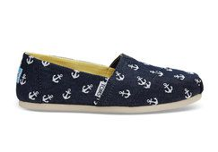 TOMS Navy Burlap with Embroidered Anchors Women s Classics Found on my new  favorite app Dote Shopping  DoteApp  Shopping 6da8d7e263