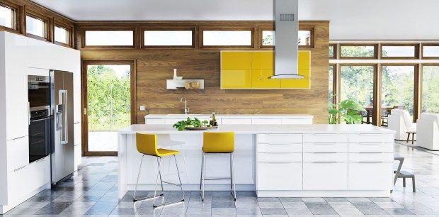 New Ikea Sektion Kitchen Ringhult High Gloss White And Jarsta High Gloss Yellow Cnw Group Ikea Canada Ikea New Kitchen New Kitchen Cabinets New Kitchen