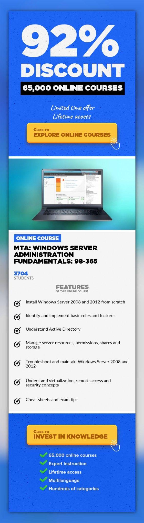 Mta Windows Server Administration Fundamentals 98 365 It