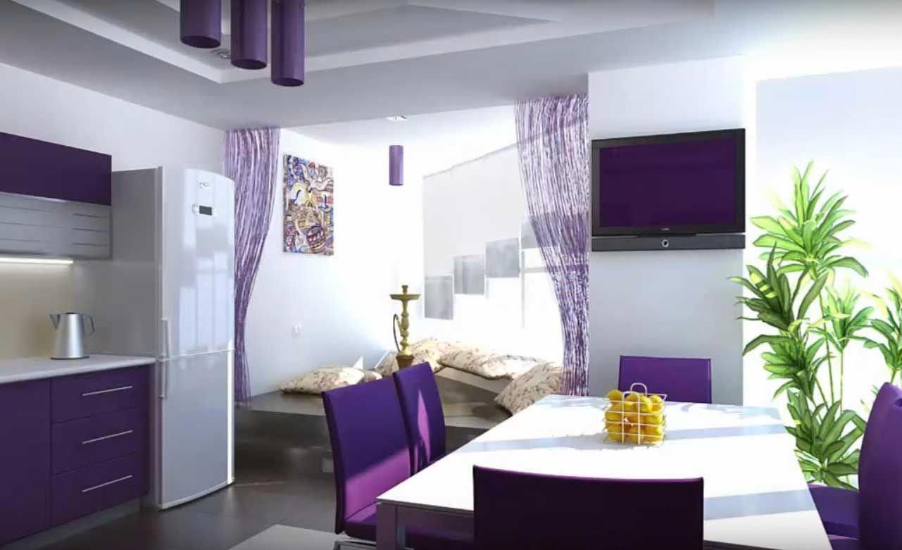Painted Kitchen Cabinets Satin Or Semi Gloss Paintingkitchencabinets Purple Kitchen Painting Kitchen Cabinets Purple Kitchen Designs