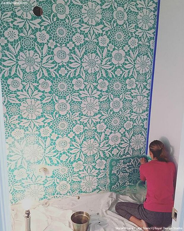 25 Stencil Projects That Will Insta Inspire Wall Stencils And Furniture Ideas Inspired By Instagram Diy Royal Design Studio