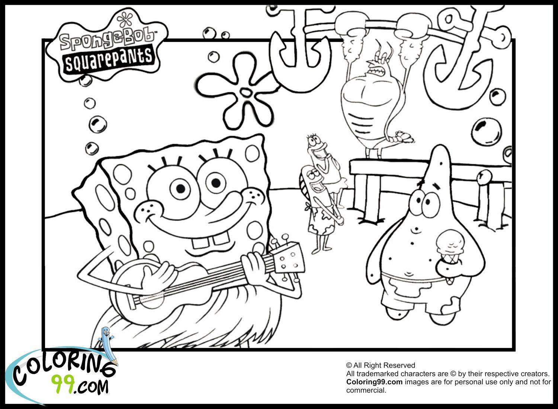 Spongebob Coloring Pages Spongebob Coloring Pages Coloring99 Com