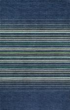 Gramercy Middle Stripes Blue Rug