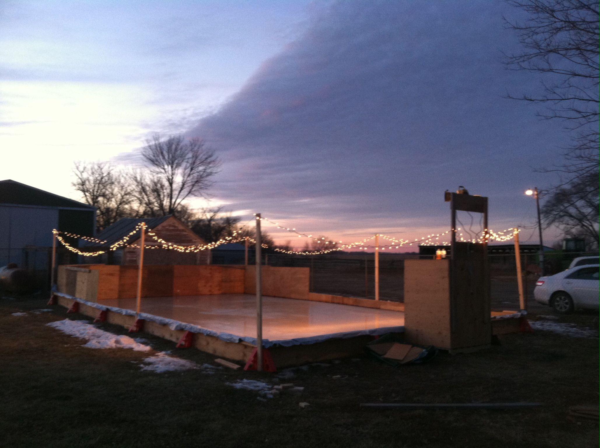 backyard ice rink nice night for a skate beck u0027s backyard ice