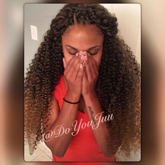 Long Crochet braids for my lovely client Check out my website at…