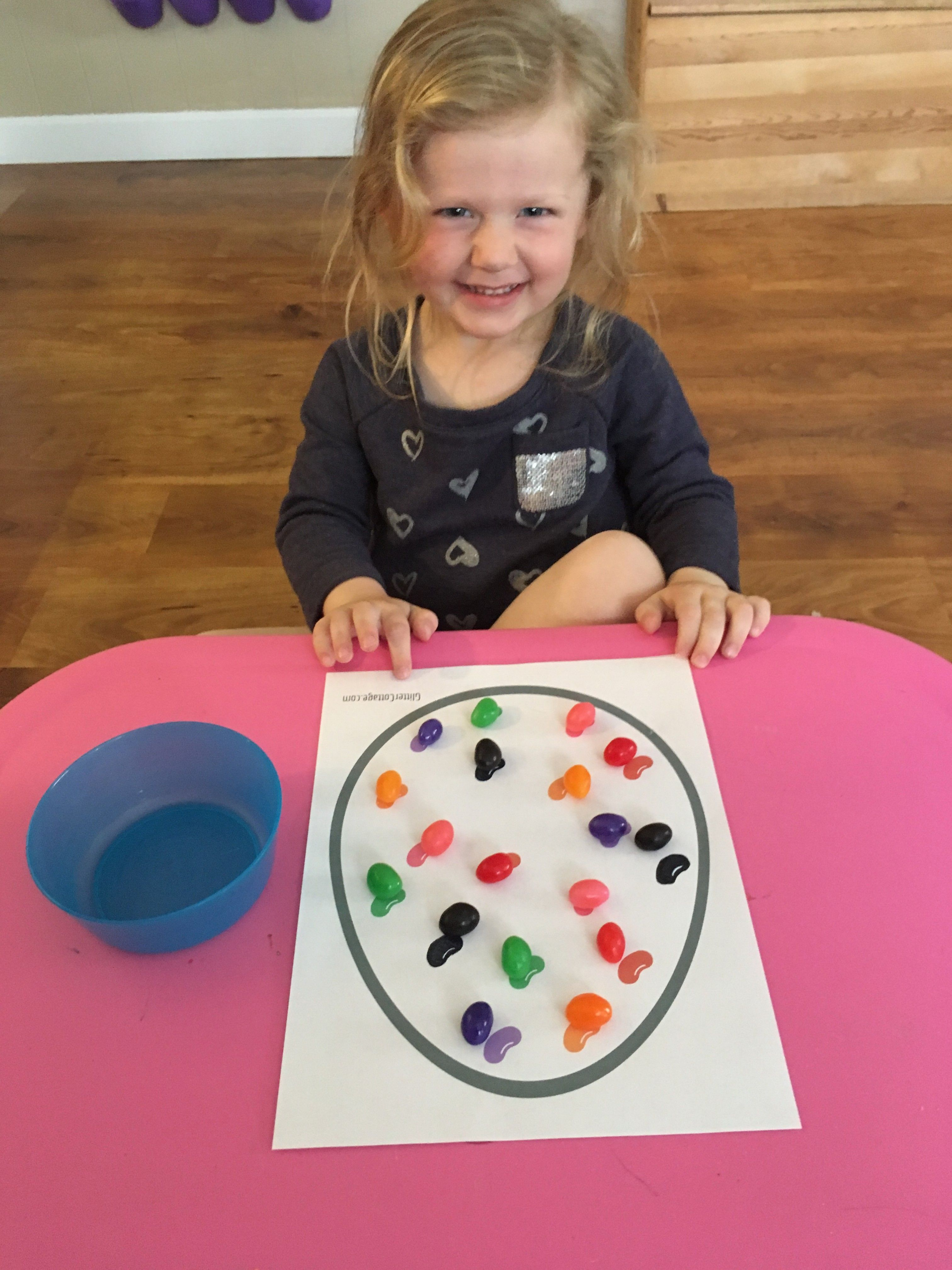 Jelly Bean Color Matching Toddler Activity Free