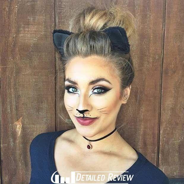 Beautiful Cat Halloween Makeup Look  Costume Back