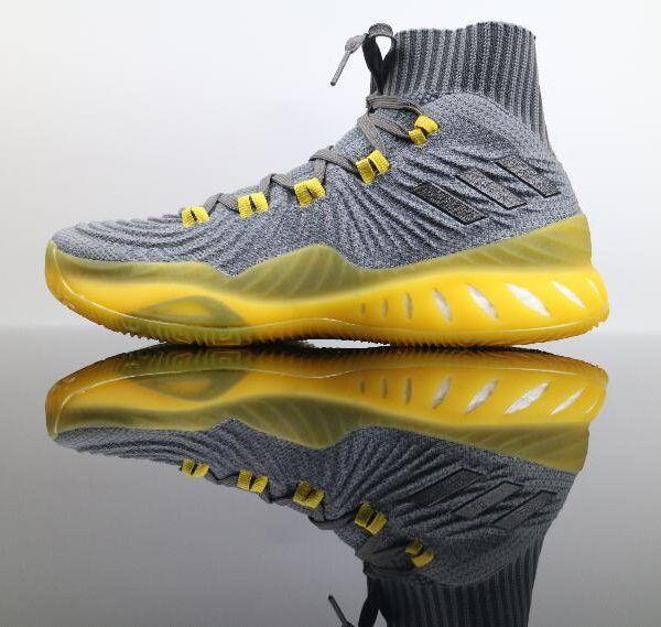 Adidas pazzo esplosiva spinta 2017 primeknit grey giallo cq1396 1